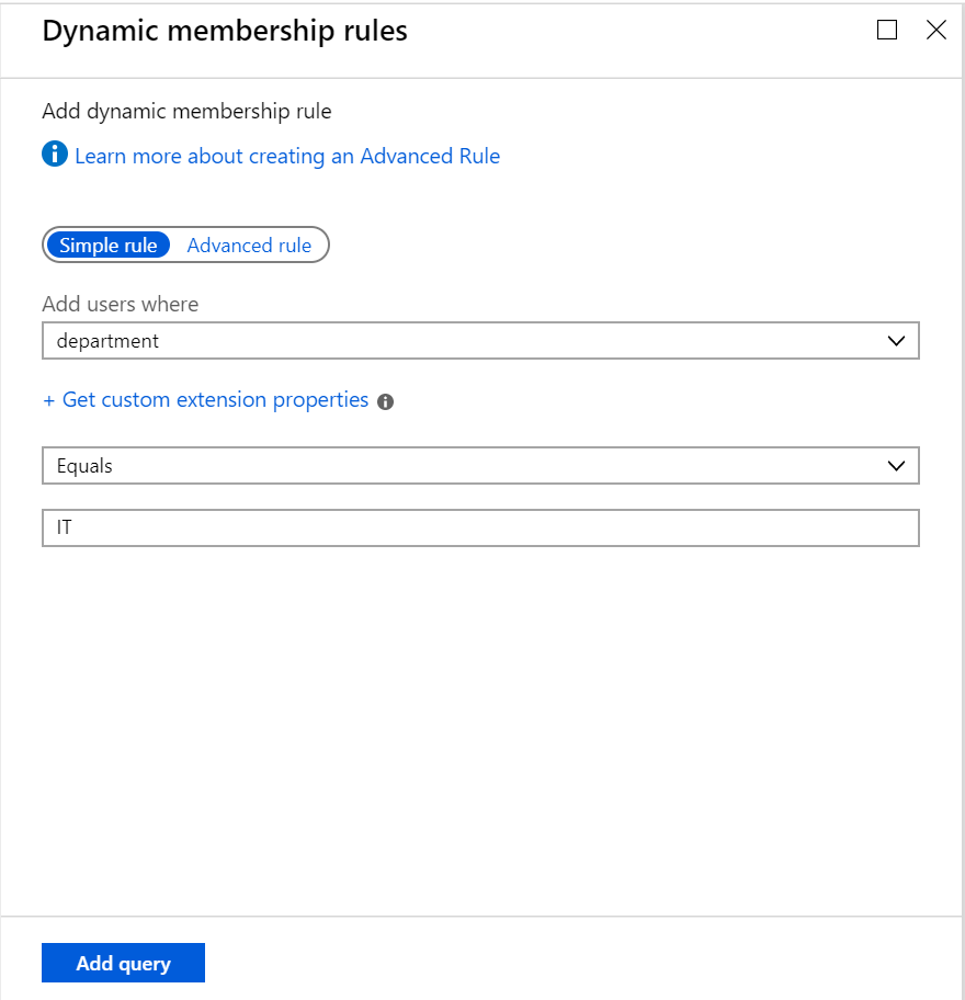 Dynamic Microsoft Teams - Dynamic membership rule for Office 365 group